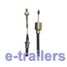 1030mm ALKO TYPE STEEL TRAILER BRAKE CABLE WITH 26mm Funnel END - DETACHABLE